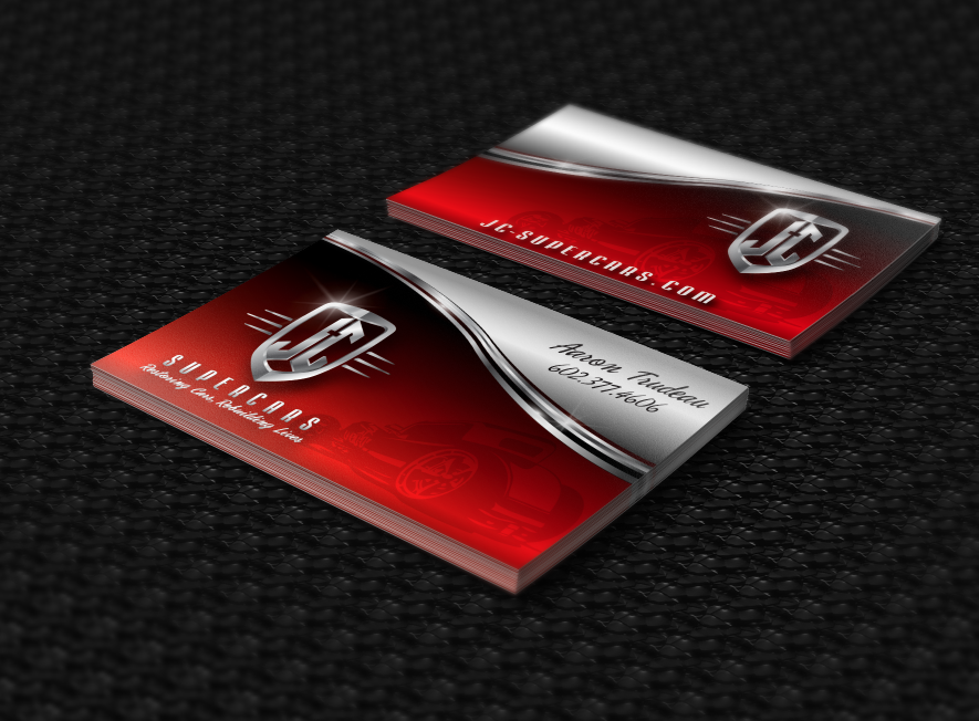 Logo and business card design for JC Supercars, a Christian Hot Rod ...