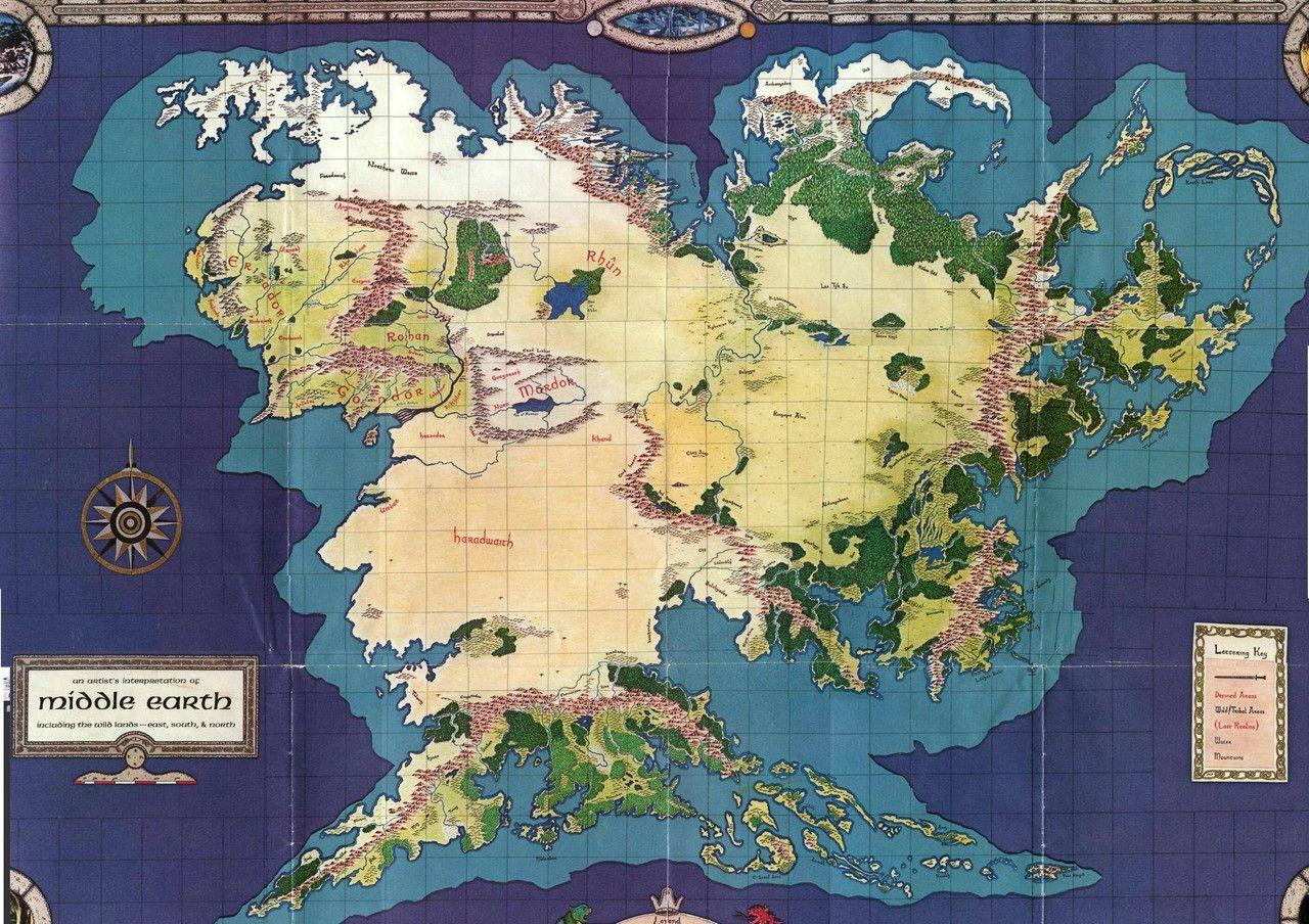 Mon Monde A Moi Carte De La Terre Du Milieu Carte Terre Carte