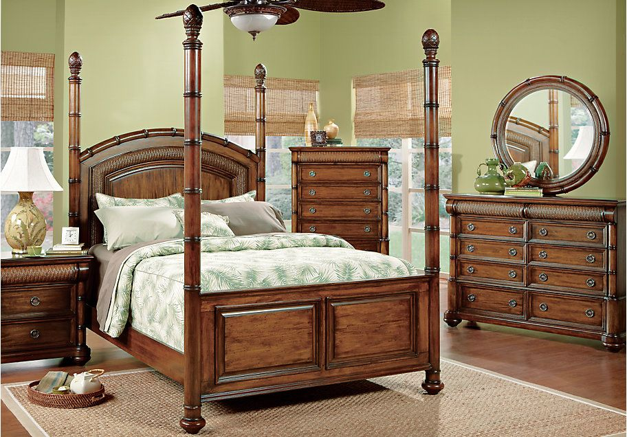 Shop for a Cindy Crawford Key West King Dark Pine Poster Bedroom at Rooms To Go. Find Bedroom Sets that will look great in your home and complement the rest ... & Cindy Crawford Home