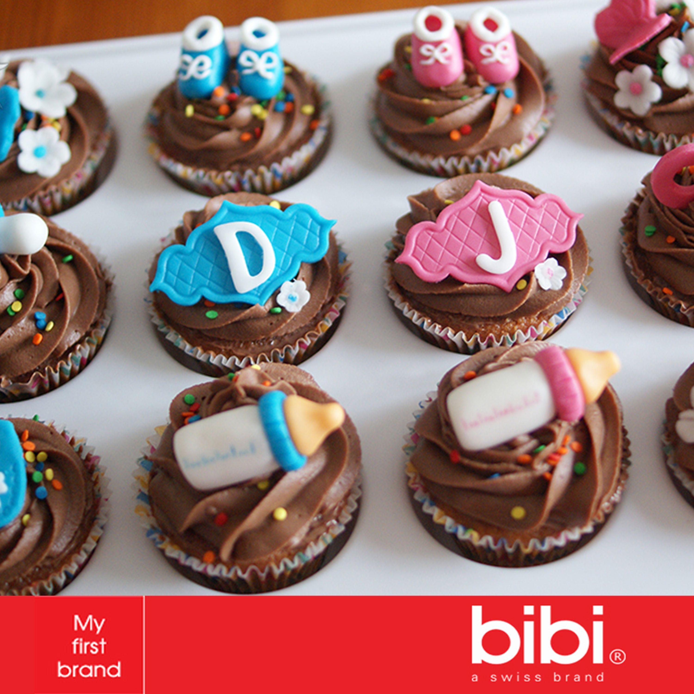¿Qué te parecen estos #cupcakes para un #babyshower de #mellizos?