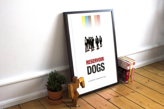 Reservoir Dogs - Movie Poster, Minimalist Poster, Film Poster, Movie Art, Reservoir Dogs Print, Movie, Print, Tarantino, Mr Pink #filmposterdesign