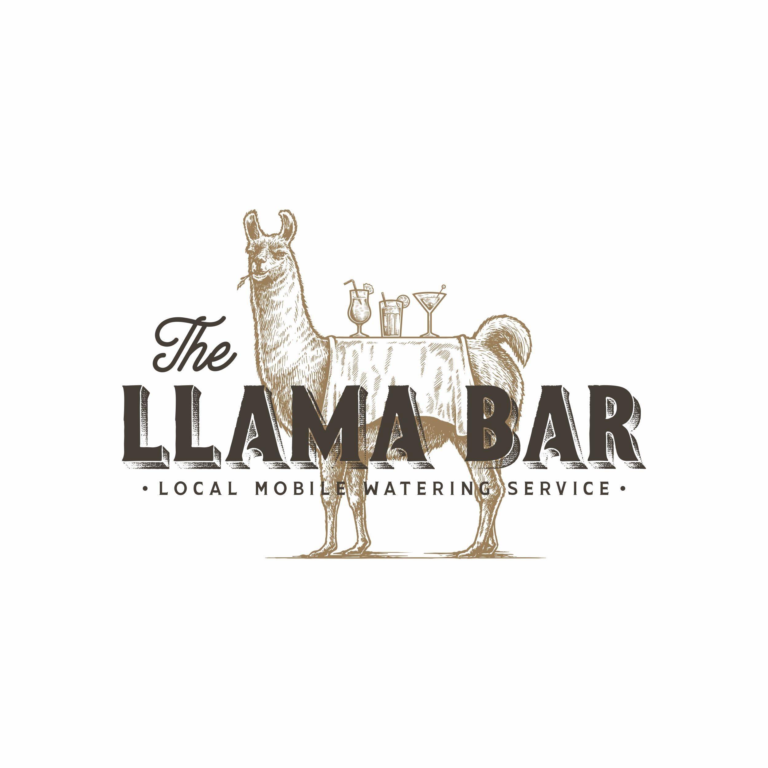 Vintage handdrawn logo for The Llama Bar 99designs
