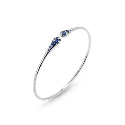 Iside Bracelet - white gold, sapphires and diamonds - Iside Flex - Ponte Vecchio - Made in Italy Jewels