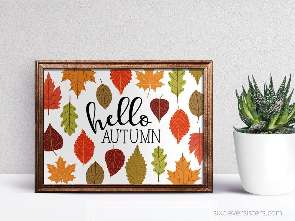 Hello Autumn Printable Sign #helloautumn