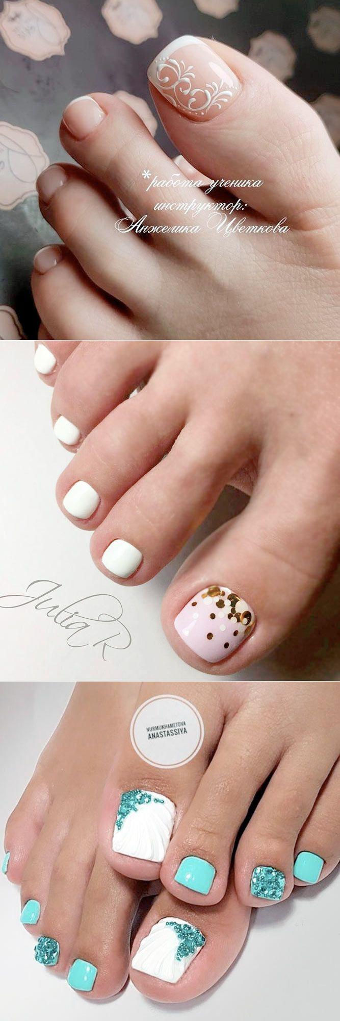 21 Amazing Toe Nail Colors to Choose This Season   Orange nail ...