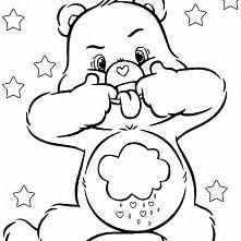 Grumpy Care Bear Coloring Pages Bear Coloring Pages Cartoon