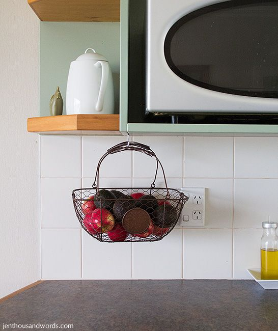 Superior Jen Thousand Words: Finding Storage Space Part 7   Hang Fruit Basket From  Top Of Shelf