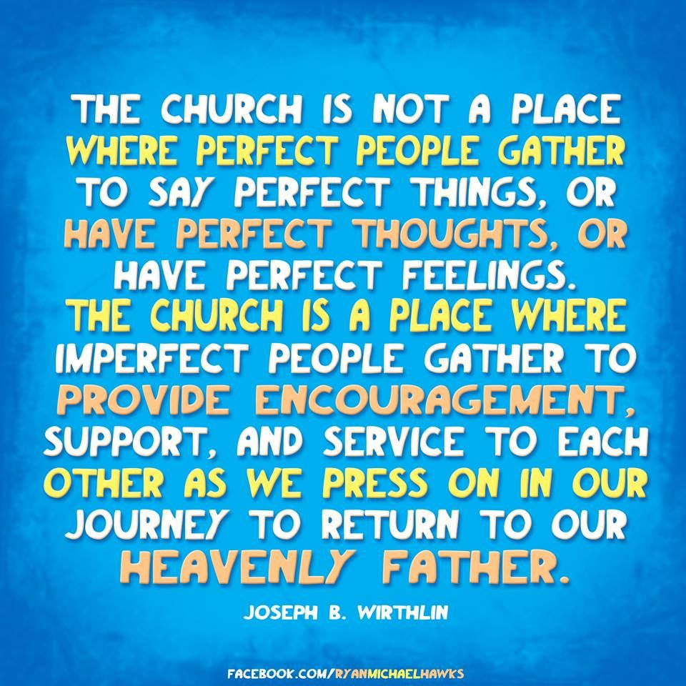 As you go to church today, please consider this quote. I am too