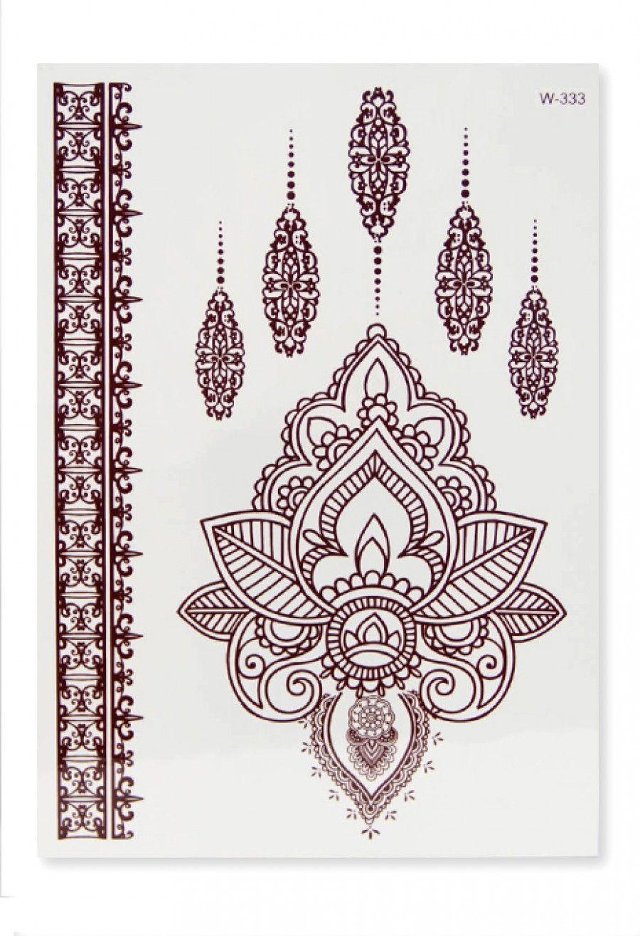 Brown Henna Tattoo: Home Jewellery Mehendi Brown Henna Tattoo