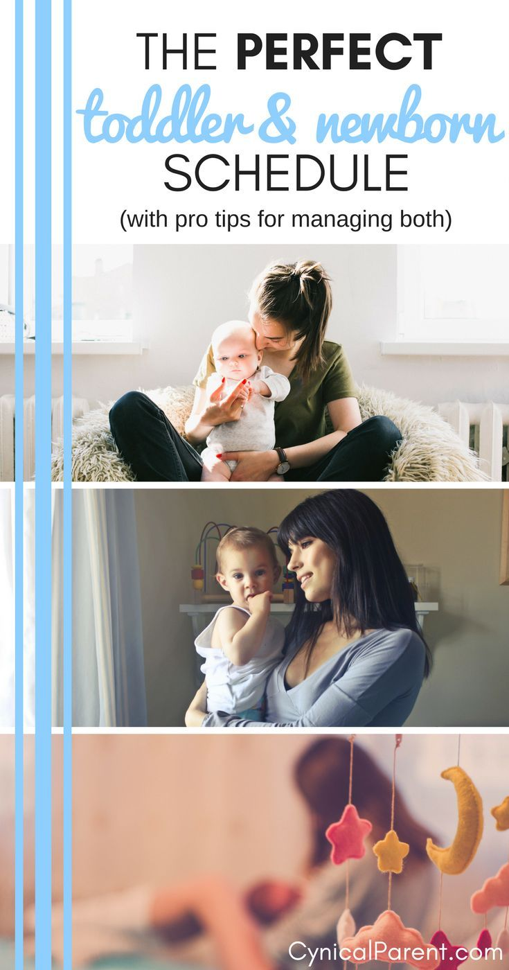 The Perfect Toddler and Newborn Schedule: Tips for Managing Both images
