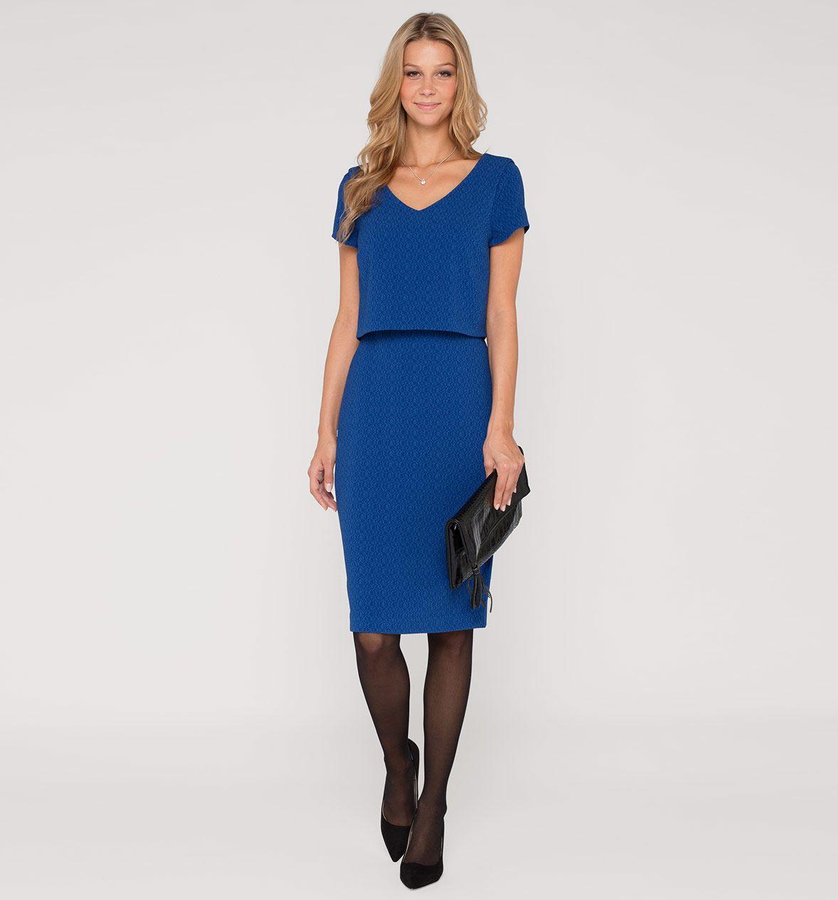 Оболочка платье в синий | Платья, Синий
