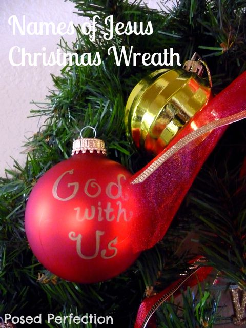 posed perfection names of jesus christmas wreath