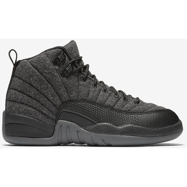 adfae2363dd0a9 Air Jordan 12 Retro Wool Big Kids  Shoe. Nike.com (£120) ❤ liked on  Polyvore featuring shoes and jordans