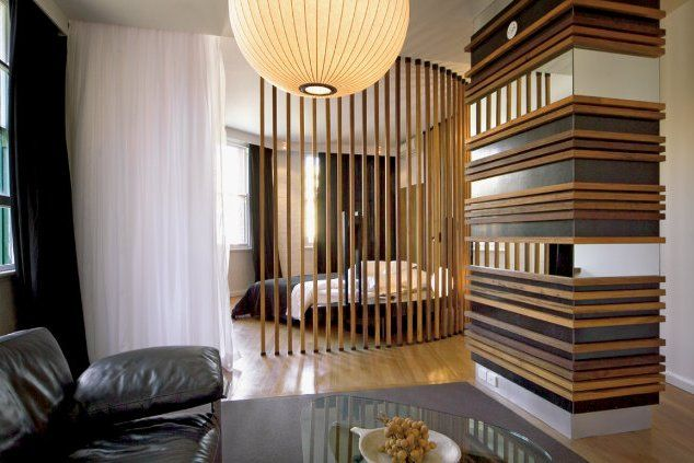 Wood partition bathrooms google search guestrooms - Wooden glass partition design ...