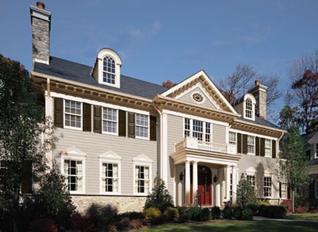 Colonial Home Benjamin Moore Exterior Paint Colors Stonington Gray Kendall Charcoal