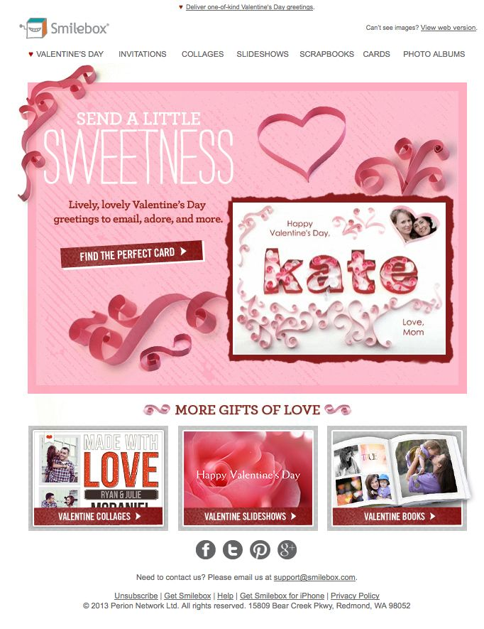 Valentine S Day Email Love The Paper Elements With Images