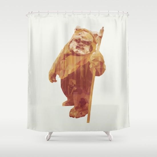 Ewok Wars Wicket Jedi Star Wars Shower Curtain Printed