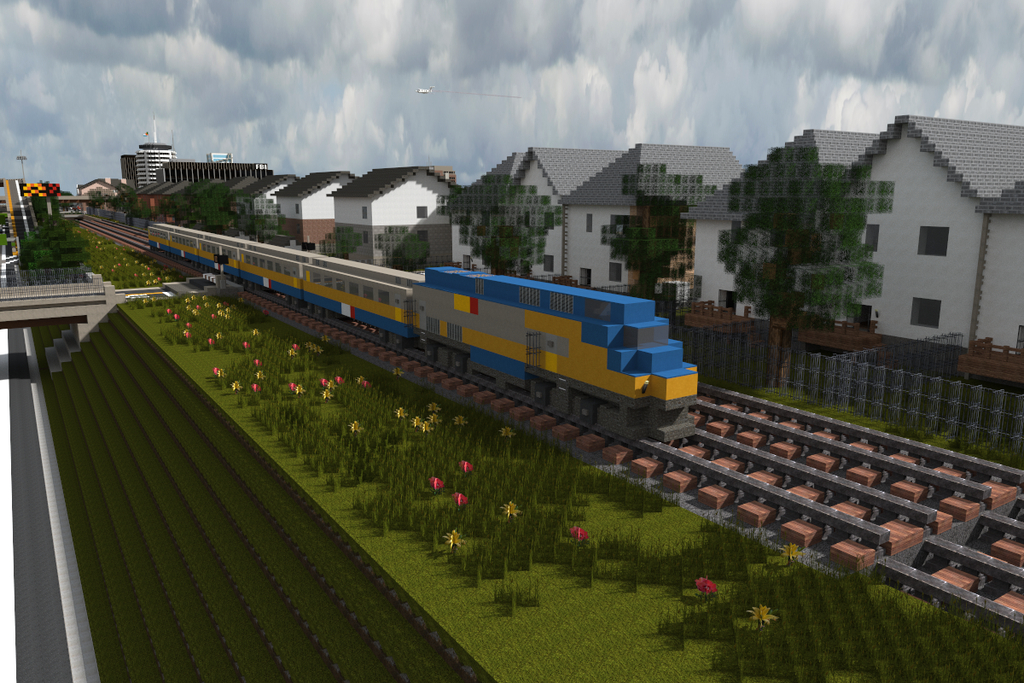 Minecraft Via Rail Train By Yazur On Deviantart