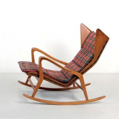 Located Using Retrostart Com 572 Rocking Chair By Gio Ponti For