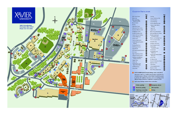 Xavier Campus Map Xavier University Map | MAPS   Local in 2019 | Xavier university