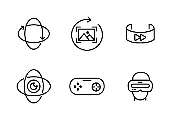 Virtual Reality Icons By Goodware Std Virtual Reality Icon Apple Icon