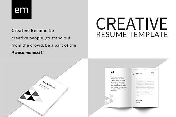 Creative Resume CV Portfolio by EditorialMonster on - unique resume format