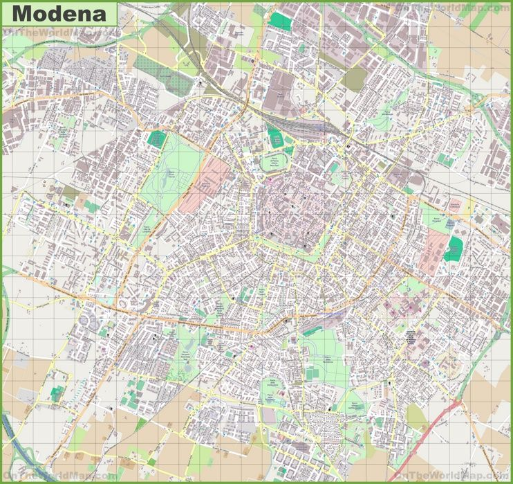 Large detailed map of Modena Maps Pinterest Italy and City