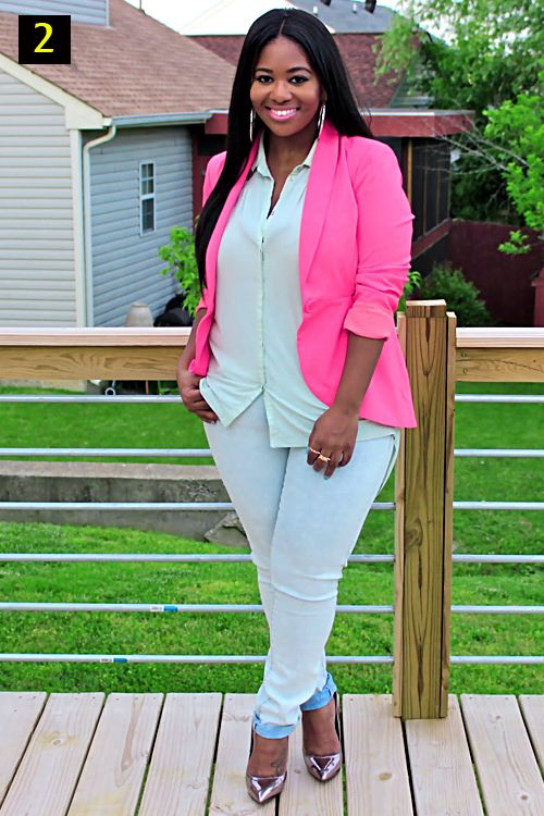 plus size pink blazer Your #personalstylist. More tips and ...
