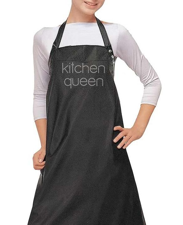 Try the Kitchen Queen Rhinestone Apron at any of the cooking competitions and make a memorable win. Your rhinestone apron says it all about your kitchen ethics.