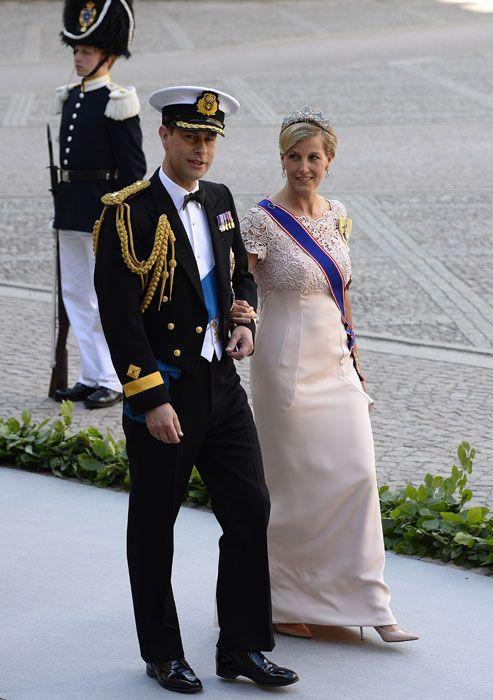 Prince Edward and Sophie at Sweden's Royal Wedding.