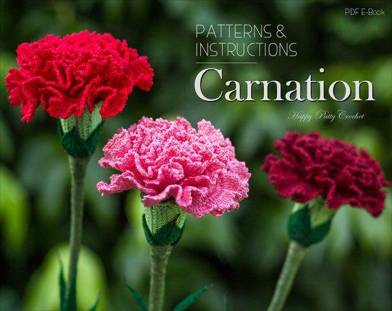 Crochet Carnation Pattern - Croche Flower Pattern - Carnation Flower ...