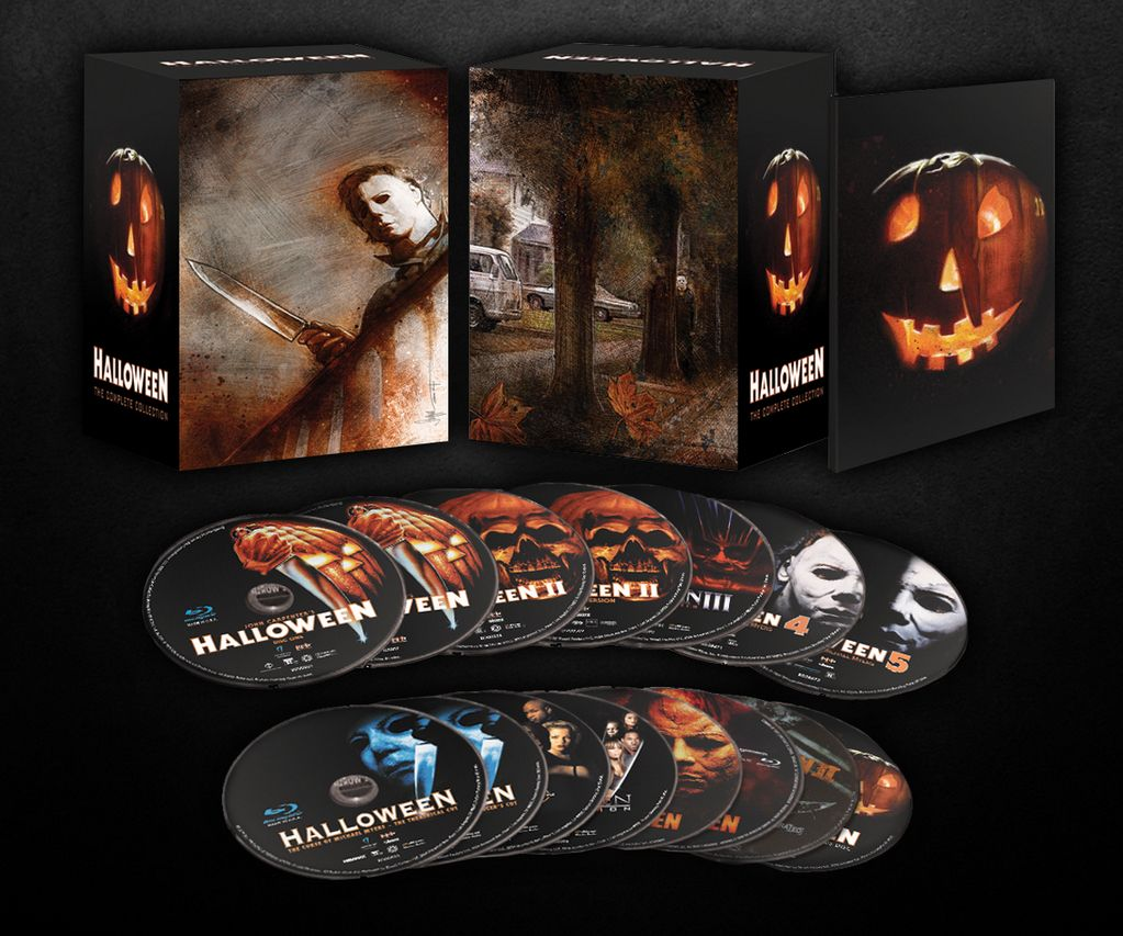halloween: the complete collection' box art lights it up! this is so