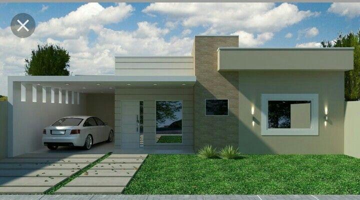 Pin de erika bravo en casa pinterest fachadas casas for Construcciones modernas
