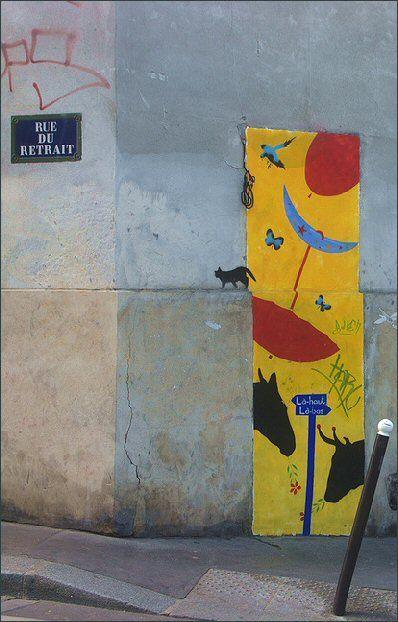 La rue du Retrait  (Paris 20ème).