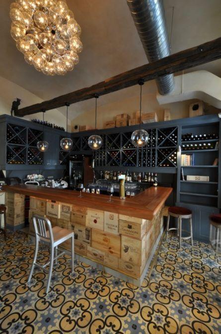 ambiance bar vin home sweet dream pinterest mobilier restaurant bar et id e d co bar. Black Bedroom Furniture Sets. Home Design Ideas