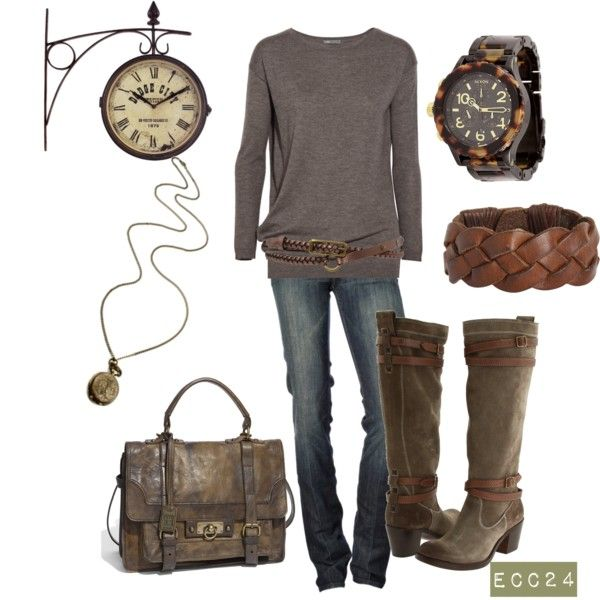 Chocolate-y Goodness! LOL. Fun, fashionable and flirty ensemble. I love all the elements in this one. Soft and fun!