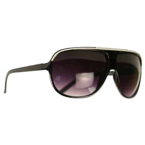 "Night of Your Life"" Plastic Frame Oversize Fashion Aviator Sunglasses - H7431"