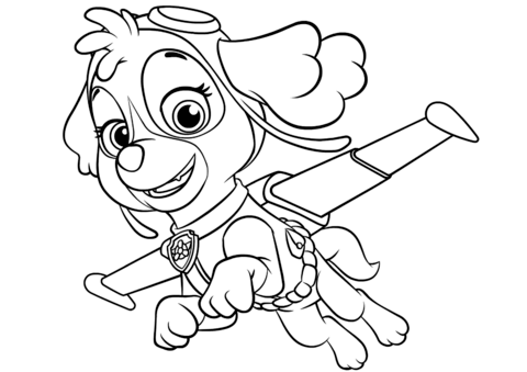 Skye Flying Coloring Page Paw Patrol Coloring Paw Patrol Printables Paw Patrol Coloring Pages