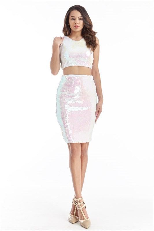 Candy Coated Iridescent Cut Out Dress