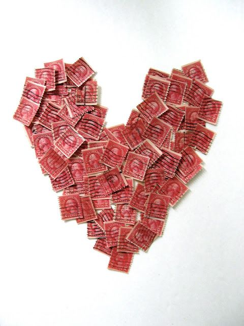 vintage red stamps