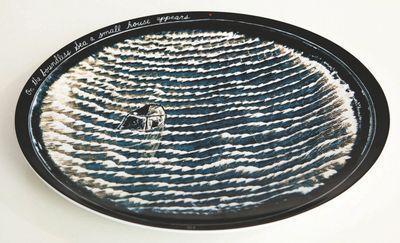 """Assiettes """"The Boundless Sea"""" ou comment raconter une histoire à travers une série d'assiettes. / By David Lynch, design. / Chez Bernardaud."""