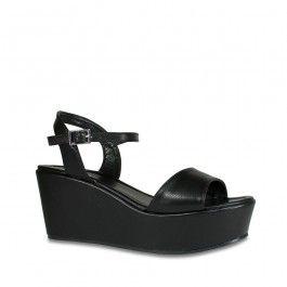 6580ce43411 Black Flatform Open Toe Platform Sandal Wedge Soda Jozy-H  27.99 -  Shoetopia.com