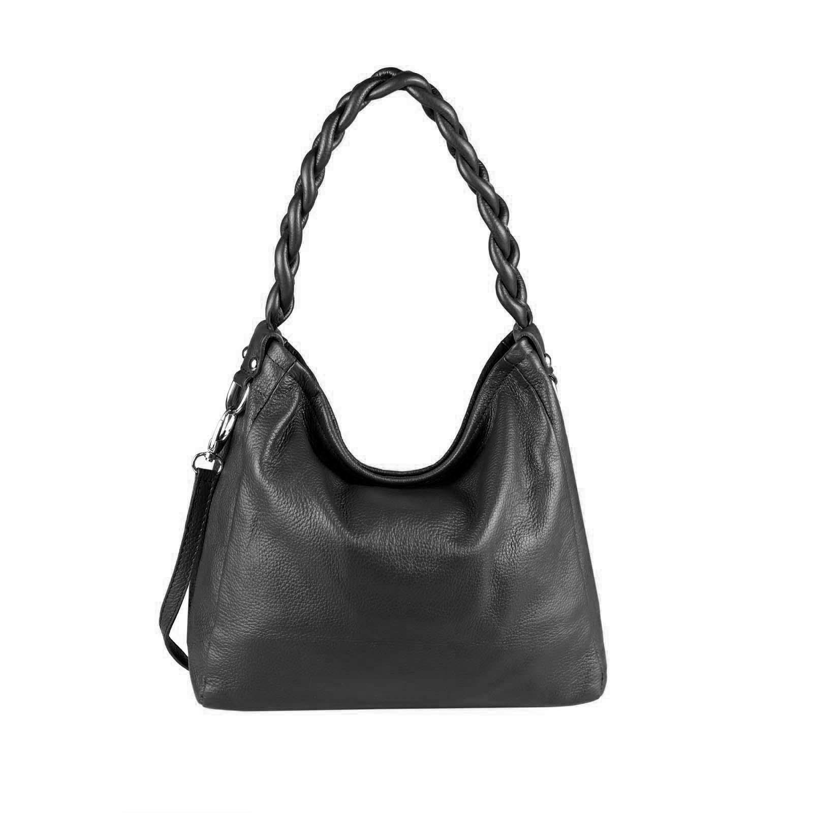 OBC Made in Italy Damen Leder Tasche Shopper Handtasche