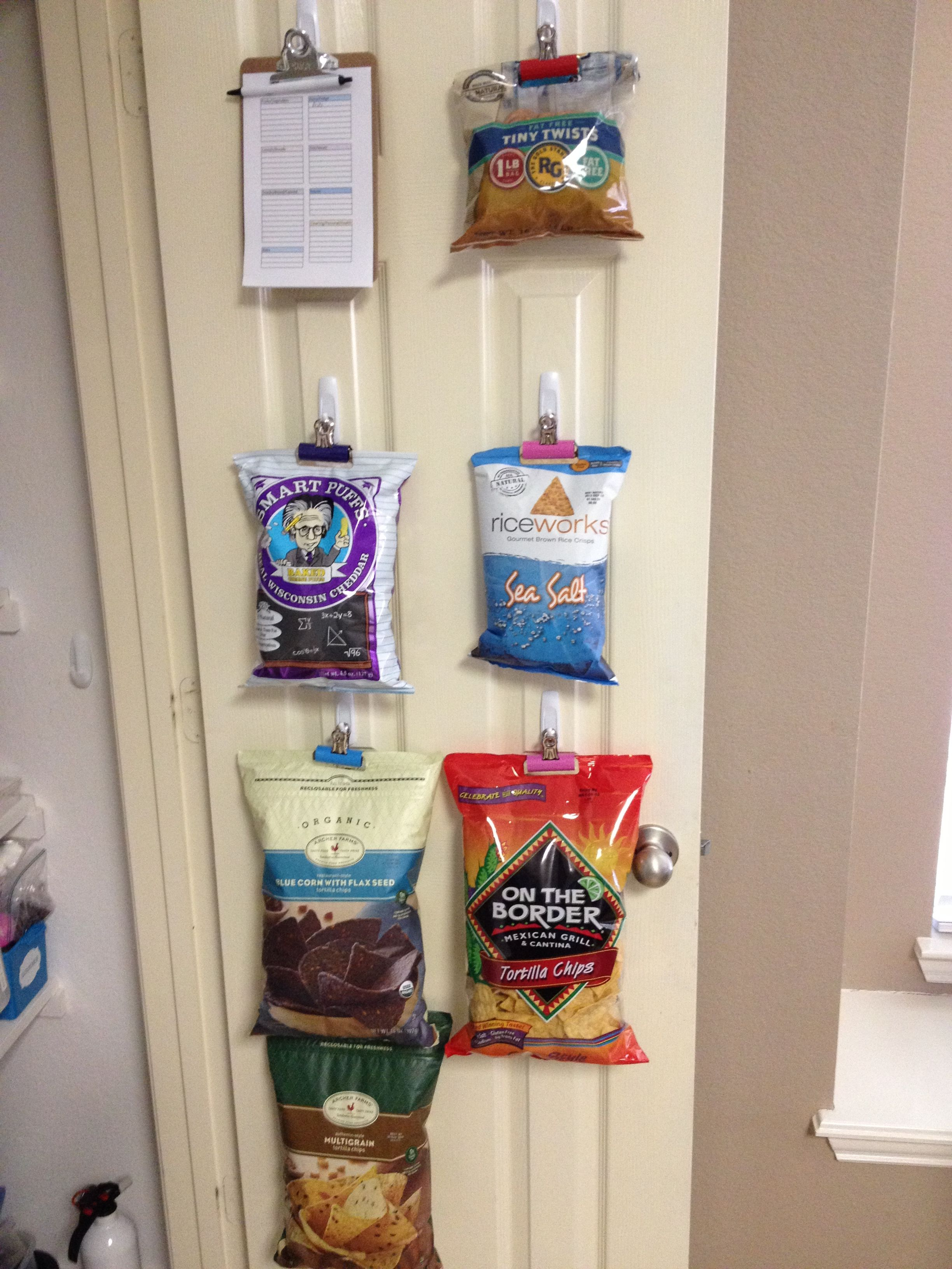 Make Room For All The Chip Bags In The Pantry Put Up