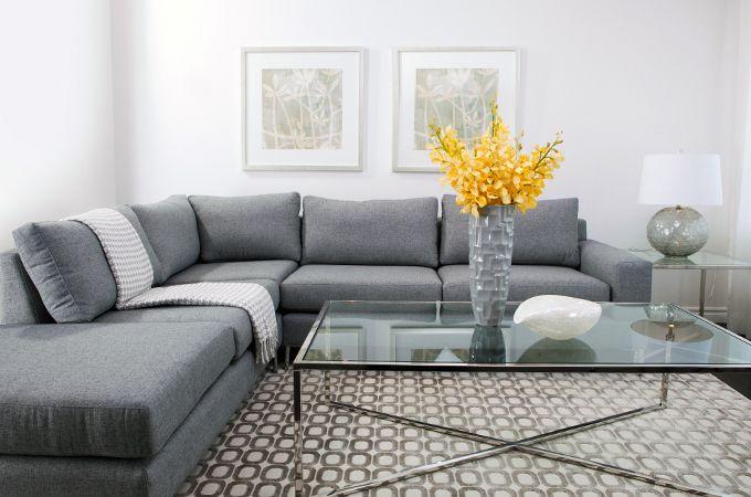 Sectionnel en tissu de style contemporain choix de tissus for Mobilier contemporain