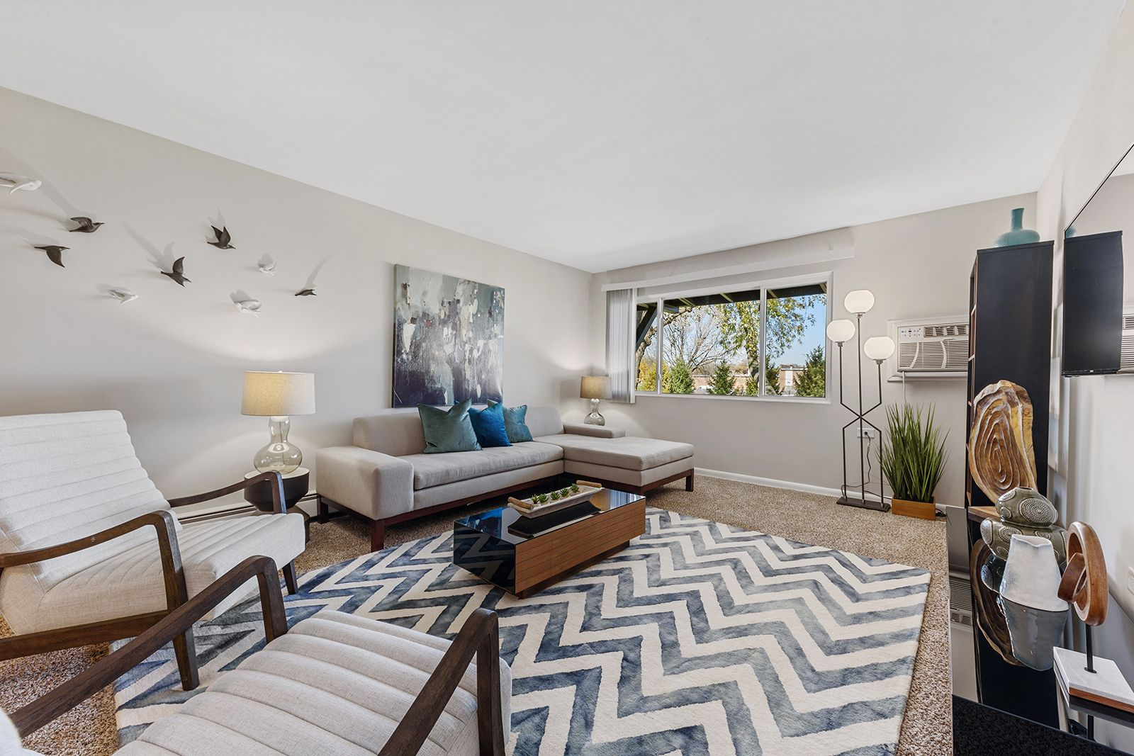 This Living Room Is Just Begging For A Movie Marathon Rollingmeadows Illinois Thepreserveatwoofield Apartm Bedroom Floor Plans Bedroom Flooring Apartment