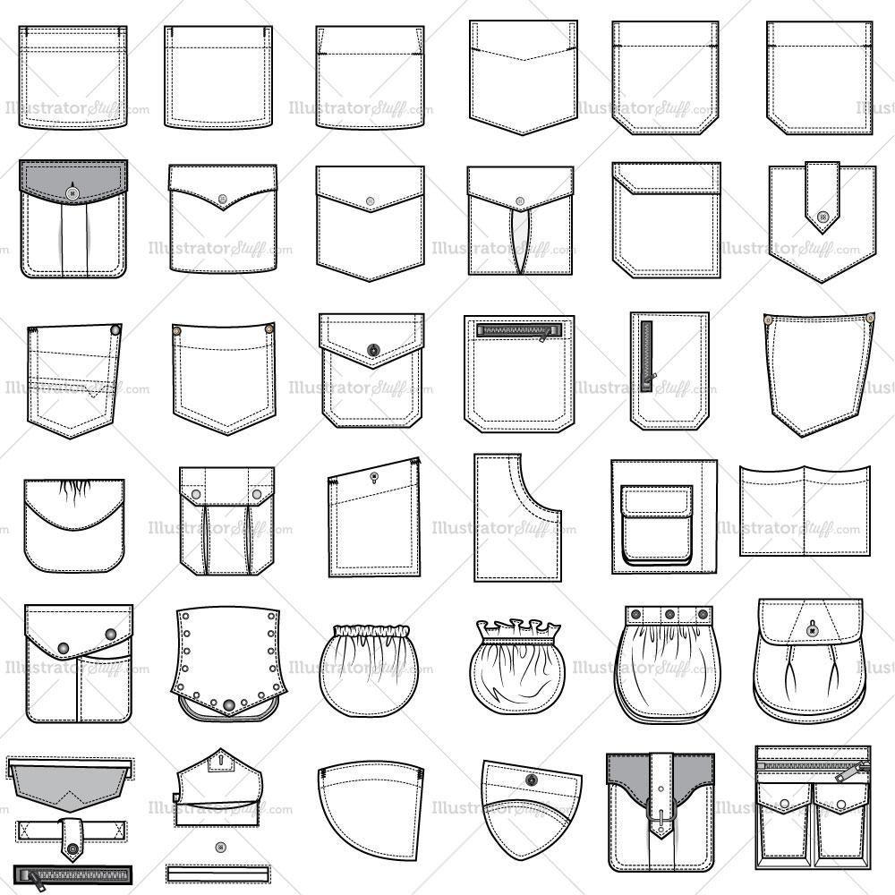 Free Fashion Flat Templates + Trim Pack   Fashion sketches