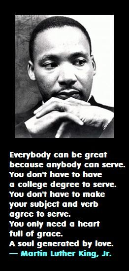 Martin Luther King Jr.: On Service