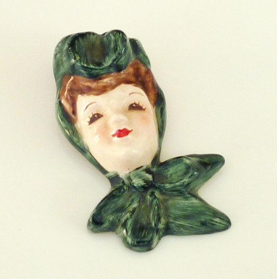 Florence Ceramics Brooch Victorian Woman Face By Zephyrvintage Gotvintage Vintagebrooch Victorian Women Vintage Vintage Jewelry