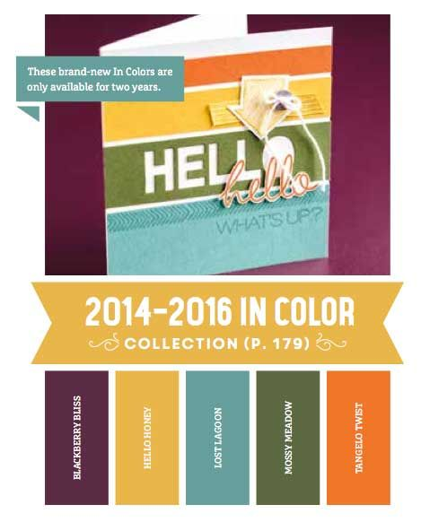2014 In Colors Stampin Up: Stampin' Up! In Color Palette For 2014-2016 Announced